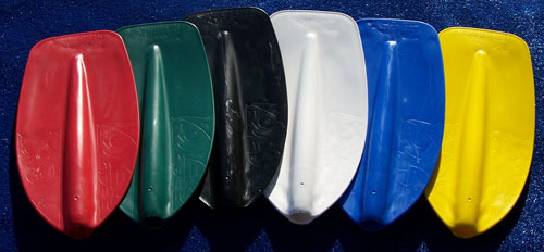 Colour options for Powerblade paddles by Australis